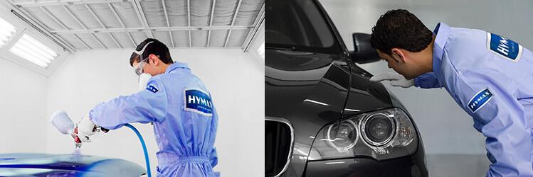 Процесс покраски авто системой HyMax